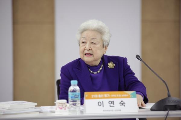 23일 오후 서울 은평구 한국여성정책연구원에서 한국여성의정과 한국여성정책연구원이 21대 총선 평가 토론회를 열었다. 토론회에서 이연숙 한국여성의정 상임대표가 발언을 하고 있다. ⓒ홍수형 기자