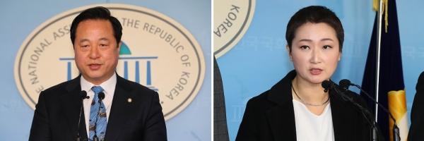 김두관 더불어민주당 의원과 이언주 미래통합당 의원.