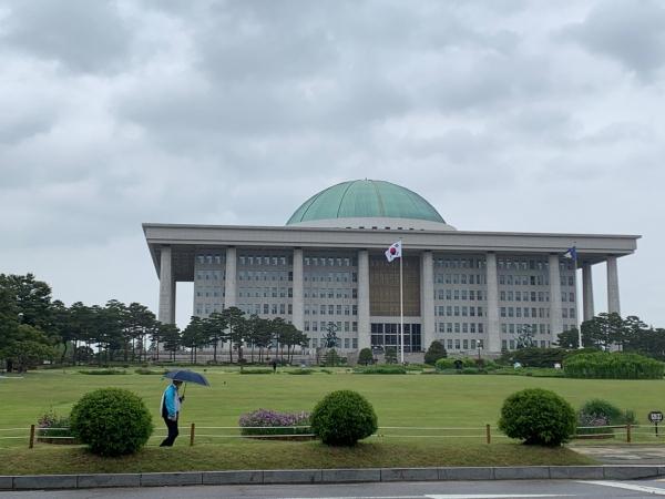비오는 날 국회의사당 전경 ⓒ홍수형 기자
