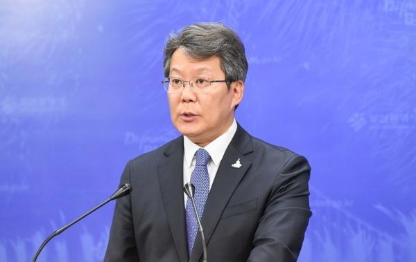 변성완 부산시장 권한대행이 21일 부산시청에서  '부산시 성인지력 향상 특별대책'을 발표하고 있다. ⓒ부산시