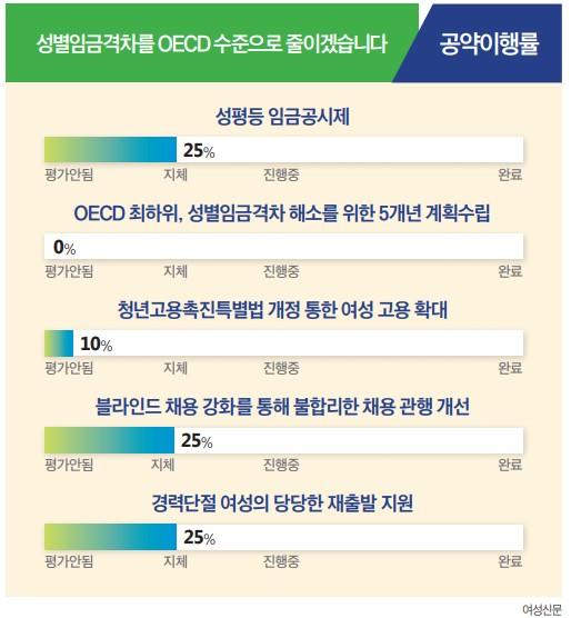 [문재인 정부 3년 공약 이행 평가] 성별임금격차 해소 공약.
