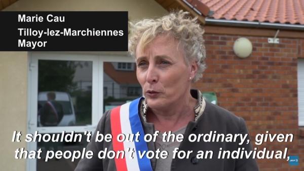 프랑스 최초 트랜스젠더 지자체장 마리 코(Marie Cau) ⓒAFP 통신 뉴스영상 캡처