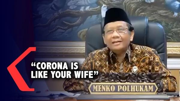 """모하마드 마흐푸드 엠데 인도네시아 정치·법률·안보 조정 장관은 5월 26일 """"코로나 바이러스는 결혼 후엔 쉽게 제어할 수 없는 아내 같다""""고 말했다가 사과했다. ⓒ유튜브 영상 캡처"""