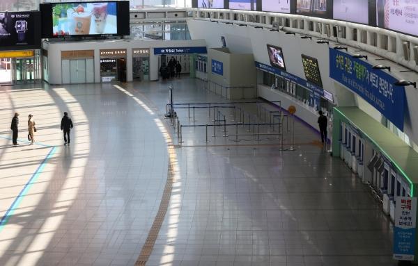 서울역 매표소 일대의 모습. 기사와 관련없는 사진. ⓒ뉴시스.여성신문