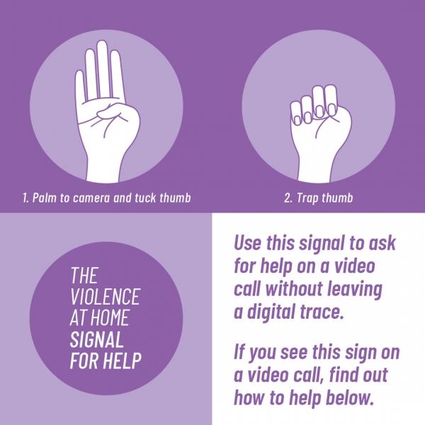 미국 기반의 가정폭력 피해지원단체 'Women's Funding Network'는 가정폭력 피해자들이 간단한 손짓으로 외부에 도움을 요청할 수 있도록 교육, 홍보하고 있다. ⓒWomen's Funding Network