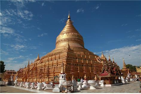 미얀마 파고다의 어머니 쉐지곤 파고다의 황금대탑. ©조용경