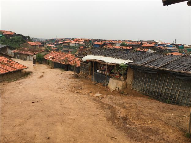 방글라데시 하킴파라에 위치한 로힝야 난민캠프 모습. ⓒ사단법인 아디