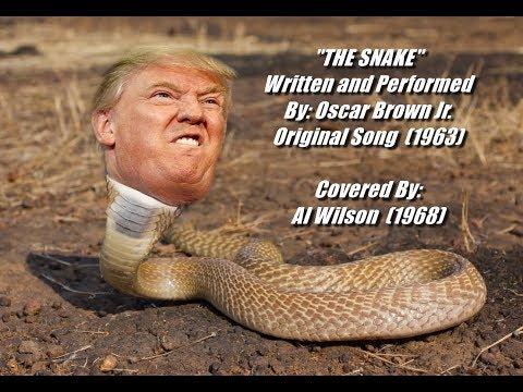 The Snake 에 빗대어 트럼프 미국 대통령을 풍자하는 합성 이미지 ⓒ구글 이미지 검색