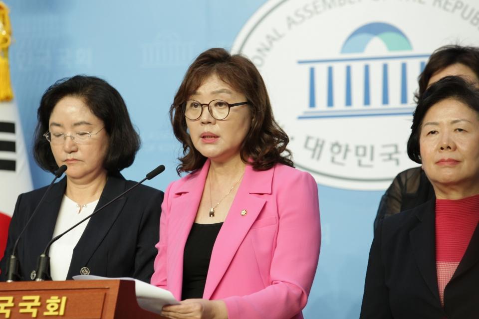 4일 오전 서울 여의도 국회 소통관에서 양금희 미래통합당 의원은 '위력에 의한 성범죄 근절' 기자회견을 열었다. ⓒ홍수형 기자