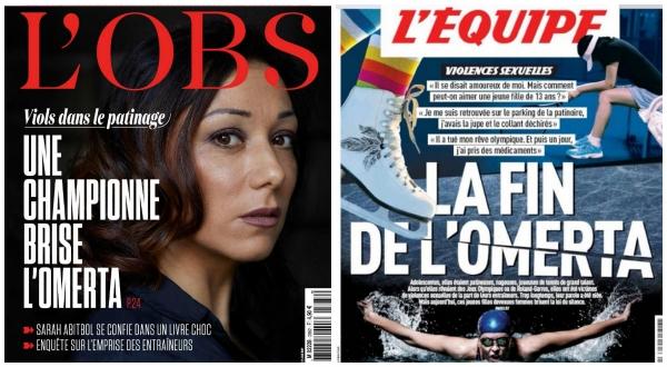 """프랑스의 피겨스케이팅 스타 사라 아비트볼은 올해 1월 자서전을 출간하고 """"15세~17세 때, 당시 코치 질 베이에르가 나를 성폭행했다""""고 폭로했다. ⓒ온라인 캡처"""