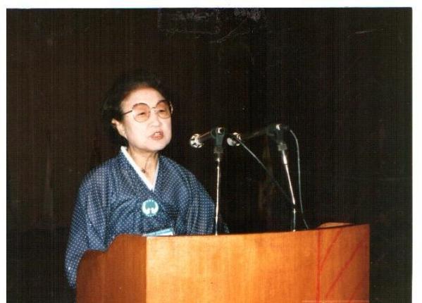 1984년 가족법 개정을 위한 여성연합회 발족식에서 이태영 한국가정법률상담소장이 발언하고 있다. ⓒ한국여성단체협의회