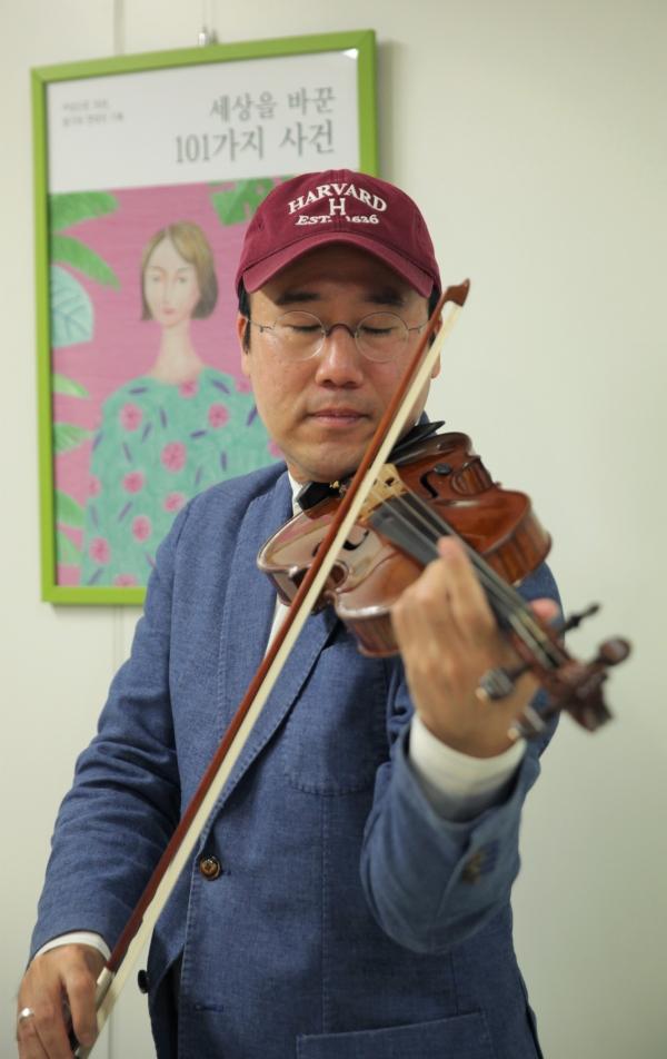 바이올리니스트 원형준 린덴바움 페스티벌 오케스트라 음악감독 ⓒ홍수형 기자