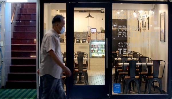 한산한 서울 중구 북창동 먹자골목의 한 카페. ⓒ뉴시스