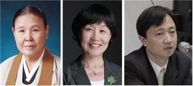 (왼쪽부터) 이선종 원불교 교무, 이미경 한국성폭력상담소 소장, 이찬진 변호사. 사진=여성가족부