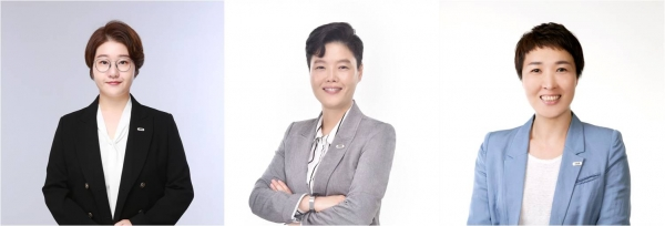 여성의당 제2대 공동대표 3인. 좌측부터 이지원, 장지유, 김진아. ⓒ여성의당