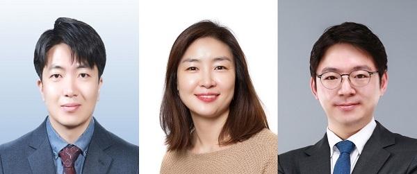 서경배과학재단 2020년선정자 노성훈 교수(사진 왼쪽부터), 이주현 교수, 조원기 교수