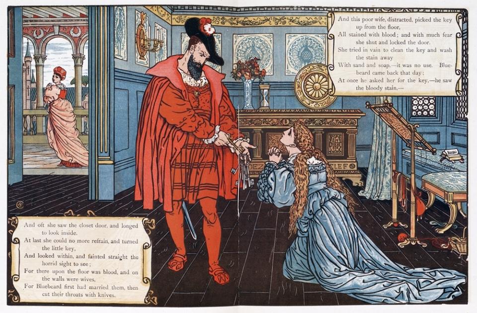 월터 크레인, '푸른 수염' 그림책 삽화, 1875년. 사진=위키피디아