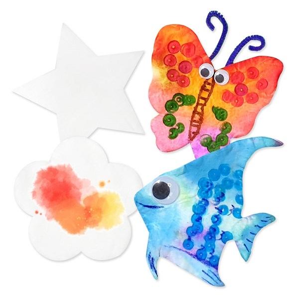 아티바바에서는 다양한 모양의 모양솜을 가지고 아이들이 집콕 미술놀이를 할 수 있도록 제품을 출시했다. ⓒ아티바바