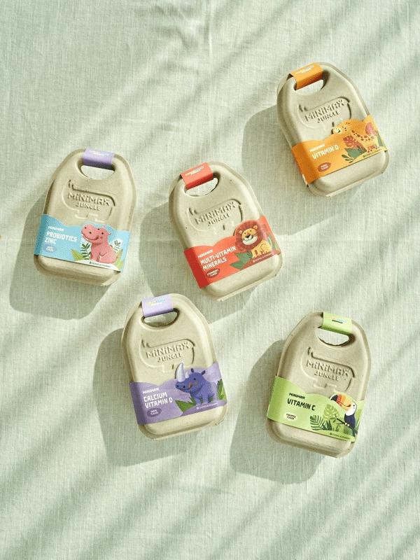 동아제약은 아이들 건기식으로 일본과 중국 원료를 배제하고 동물형 젤리로 만든 미니막스를 할인 판매한다. ⓒ동아제약