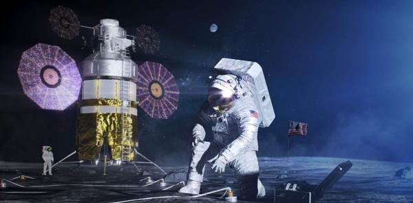 우주인의 달 표면 탐사 상상도. ⓒNASA