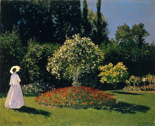 클로드 모네, 정원의 여인(Lady in the garden, 1867)