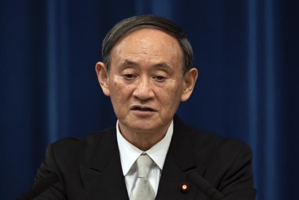 스가 일본 총리.