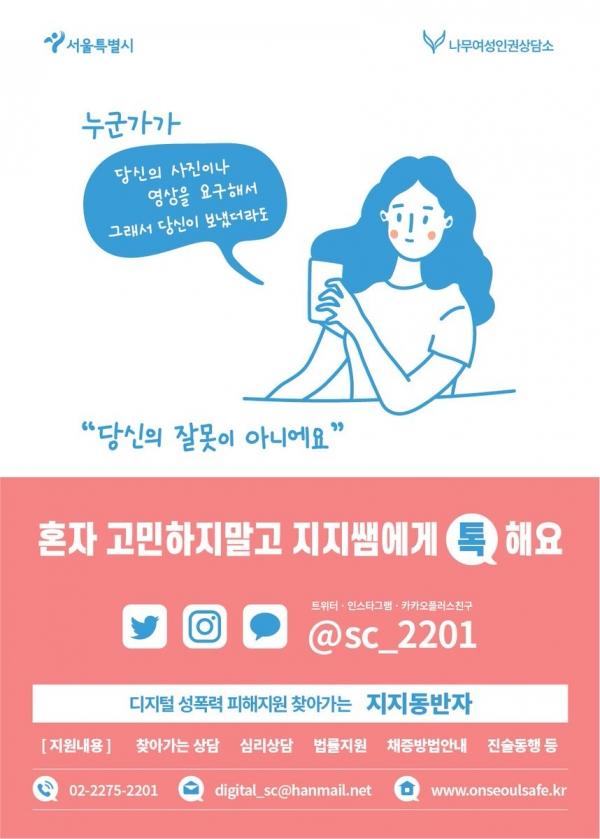 서울시 디지털성범죄 피해지원사업 '찾아가는 지지동반자' ⓒ서울시