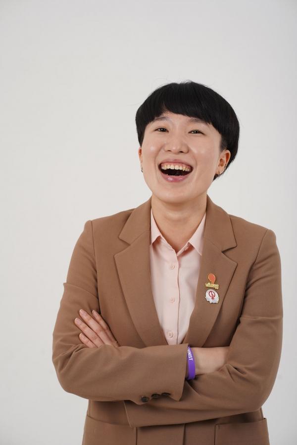 기본소득당 신민주 후보. ⓒ신민주 선거캠프 제공