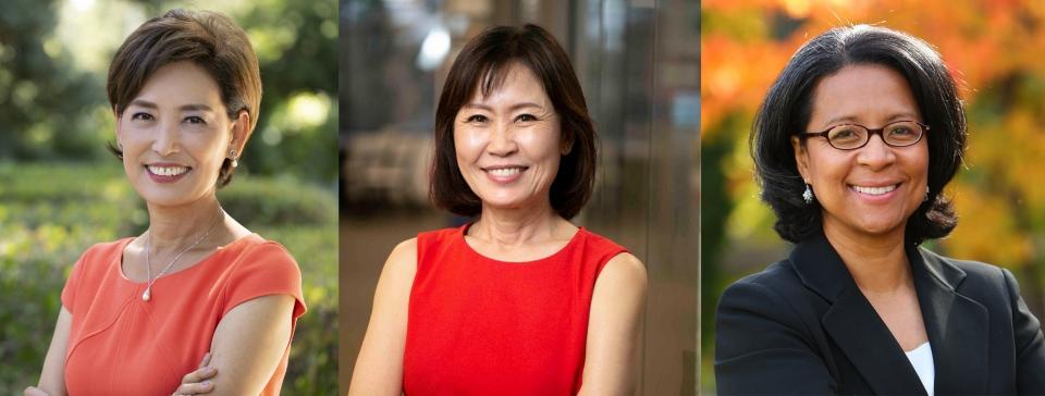 지난 3일 열린 미 연방하원 의원 선거 결과, (왼쪽부터) '김영옥' 영 김 공화당 후보(57·캘리포니아주), '박은주' 미셸 박 스틸 공화당 후보(65·캘리포니아주), 메릴린 스트릭랜드 민주당 후보(58·워싱턴주)가 당선됐다. ⓒ당선인 홈페이지, Wikipedia