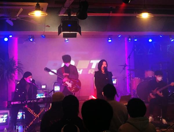 지난 11월 28일 오후 6시 서울 마포구 생기스튜디오에서 열린 '2020 WeWeWe Festa' 공연 현장. ⓒ김민정씨 제공