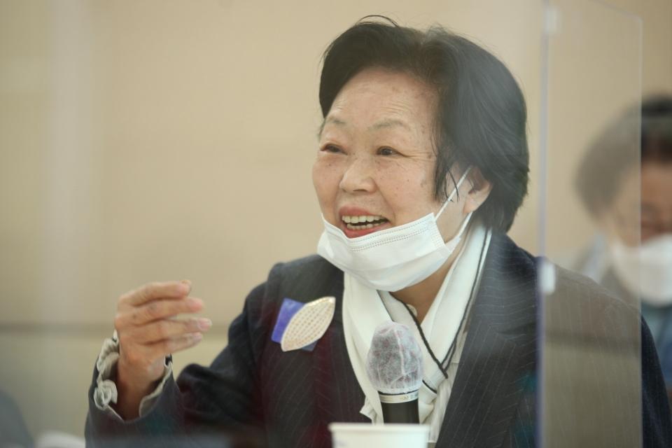 3일 오전 서울 여의도 KMA 여의도센터에서 한국여성의정과 한국여성정책연구원이 '정치관계법 개정 토론회'를 열고 최금숙 한국여성단체협의회 회장은 발언을 하고 있다. ⓒ홍수형 기자