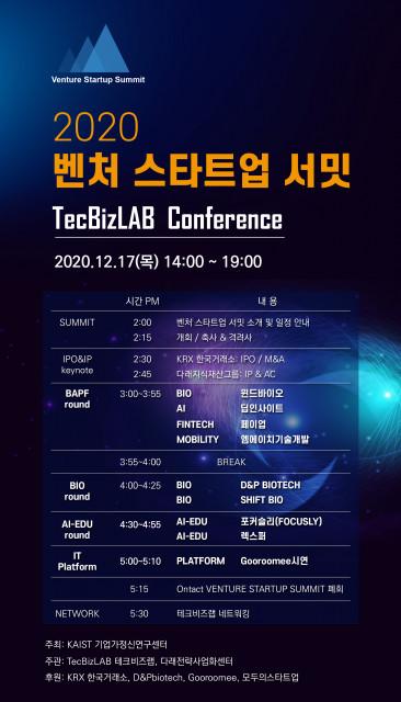KAIST·다래전략사업화센터, '벤처 스타트업 서밋' 공동 개최 Ⓒ다래전략사업화센터