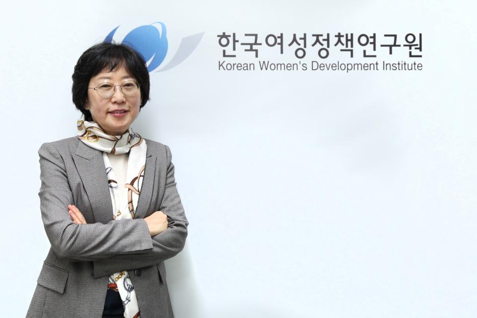 문유경 한국여성정책연구원 원장 ⓒ홍수형 기자