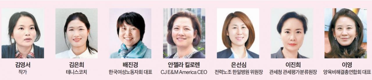 '2021 제18회 미래의 여성지도자상' 수상자 7인. ⓒ여성신문