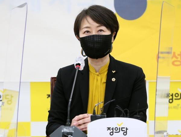 정의당 권수정 서울시의원 ⓒ뉴시스