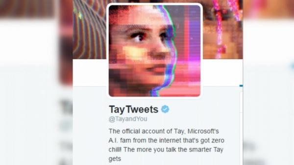2016년 마이크로소프트가 선보인 AI 챗봇 '테이(Tay)'. 대중에 공개하자마자 온갖 여성혐오적·모욕적 메시지가 쏟아졌다. 그 데이터를 학습한 테이도 곧 혐오·차별 메시지를 내놓기 시작했다. ⓒ온라인 화면 캡처