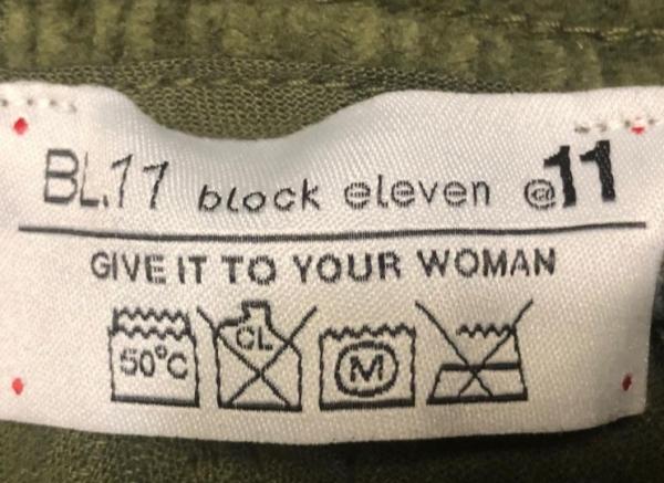 문제가 된 의류의 세탁 라벨. ⓒ자코모 쿠치니 시장 페이스북 갈무리