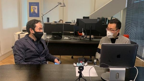 장유성 SSG닷컴 본부장(왼쪽)과 박세헌 당근마켓 부사장이 마스터클래스에서 이야기를 나누고 있다. ⓒSSG닷컴