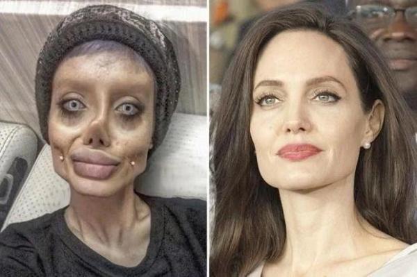 인스타그램에 '좀비 셀피'를 올리던 사하 타바르는 안젤리나 졸리와 닮은꼴이라며 온라인상에서 '좀비 안젤리나 졸리'라고도 불렸다. ⓒㅇㅇㅇ