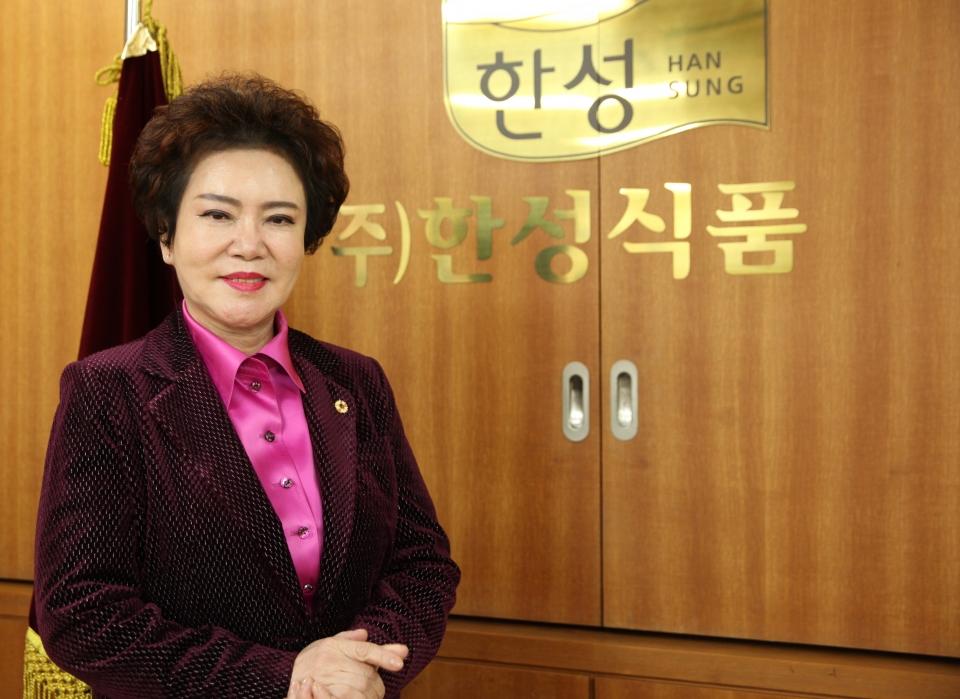 김순자 한성식품 대표 ⓒ홍수형 기자