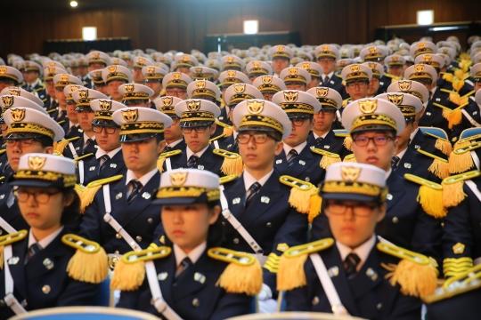 경기도 용인시 경찰대학교에서 '2015학년도 경찰대 신입생 입학식'이 열리고 있다. ⓒ경찰청