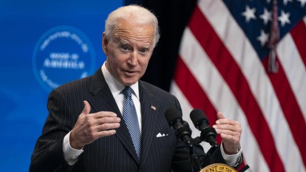 조 바이든 미국 대통령이 현지시간 25일 백악관에서 미 제조업 관련 행사에 참석해 발언하고 있다. ⓒAP/뉴시스