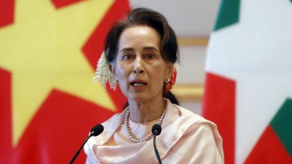 미얀마 최고 지도자 아웅산 수지 ⓒAP/뉴시스
