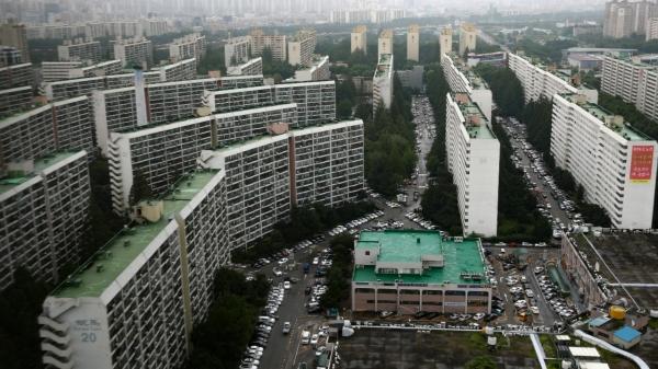 5일 서울 강남구 대치동 은마아파트가 내려다 보이고 있다. ⓒ뉴시스