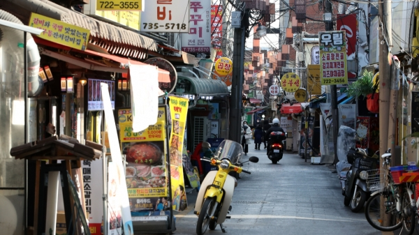 4일 오후 서울 종로구 세종마을음식문화거리. ⓒ뉴시스