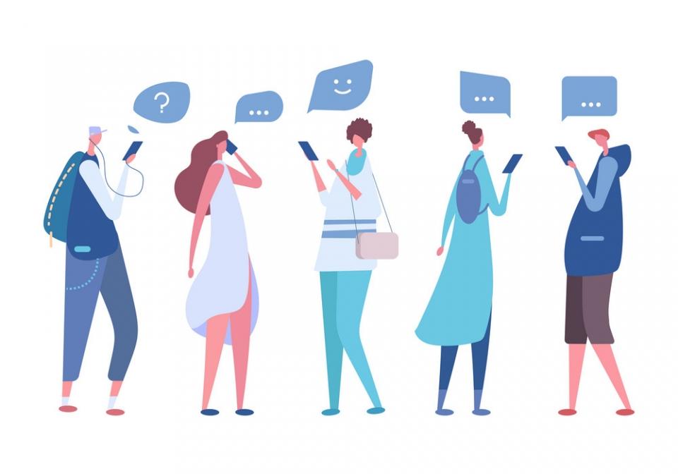 화제의 SNS '클럽하우스'. 이용자들은어떤 가능성과 한계를 봤을까.스타트업 리더,인권활동가 등각기 다른 경험과 배경을 지닌 여성 4명의이야기를 들어봤다. ⓒVectorstock
