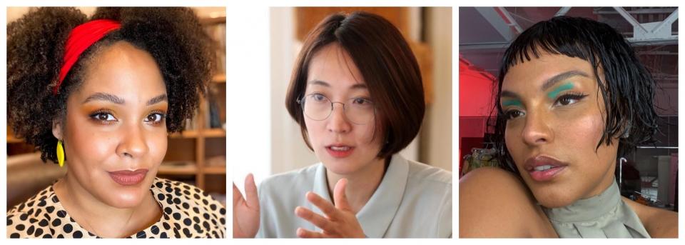 왼쪽부터 차례로 이제오마 울루오, 장혜영, 팔로마 엘세서. ⓒ이제오마 울루오·장혜영 페이스북, 팔로마 엘세서 인스타그램 갈무리