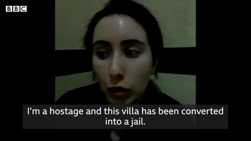 """""""나는 감옥으로 개조한 빌라에 갇힌 인질이다"""" 호소한 두바이 공주의 영상이 16일 BBC 다큐 '사라진 공주'에서 공개됐다. ⓒBBC 홈페이지 공개"""