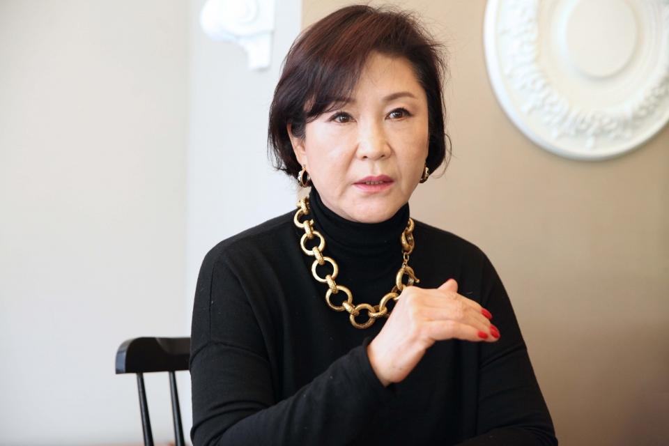 여성신문과 인터뷰 중인 임향화 씨. ⓒ홍수형 사진기자
