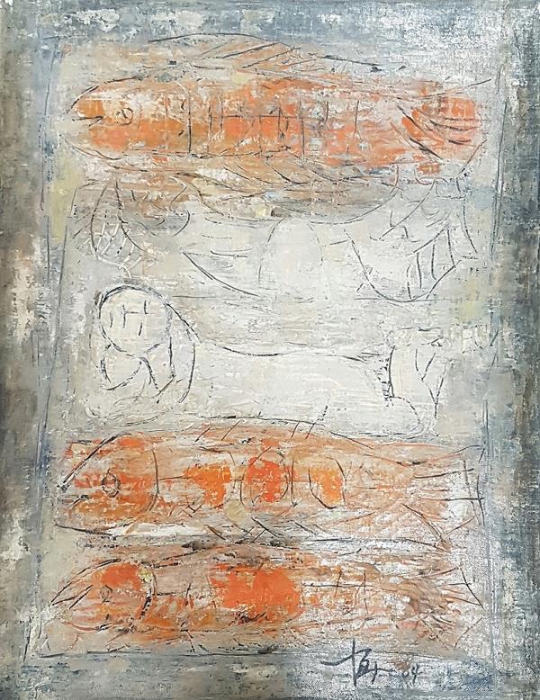 박항섭 Park Hang Sub, 무제 Untitled, 1964, 캔버스에 유채 Oil on canvas, 41x31cm, 개인 소장. © Image Copyright Park Hang Sub Estate, Collector